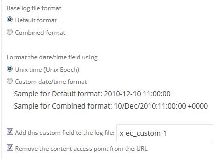 Default Log File Format
