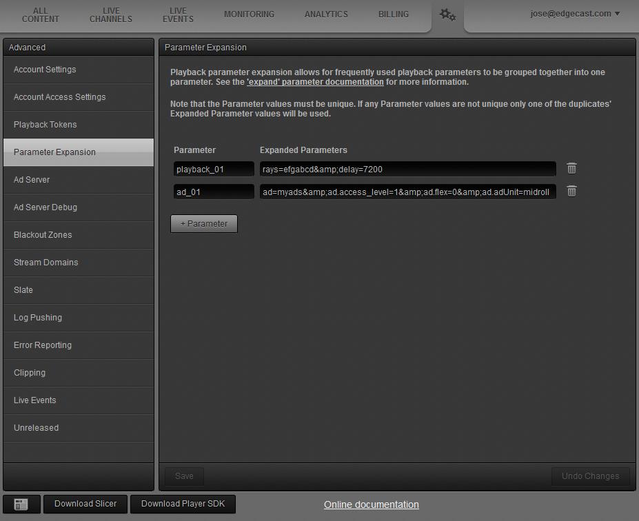 Customizing Playback (Playback Customization Parameters)